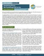 Policy brief Sustaining peace snip