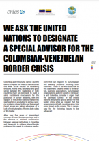 Call for a Special Advisor for the Colombian-Venezuelan Border Crisis