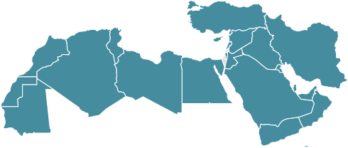 Map of Middle East & North Africa