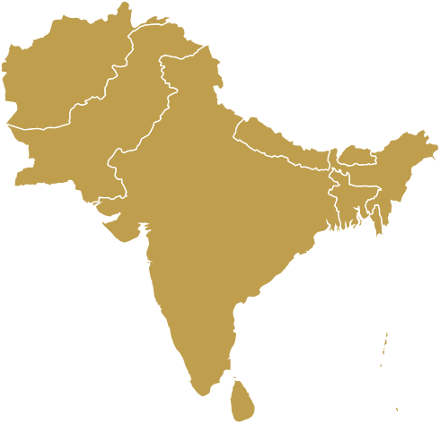 Map of South Asia