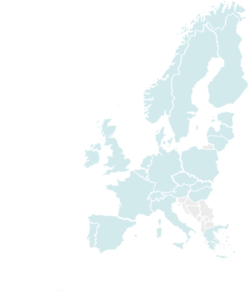 Map of Northern and Western Europe
